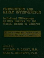 Prevention and Early Intervention