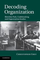 ISBN: 9781107005457 - Decoding Organization