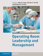 ISBN: 9781107017535 - Operating Room Leadership and Management