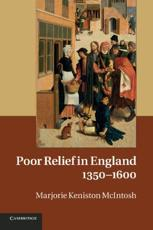 Books Poor Relief in England, 1350-1600