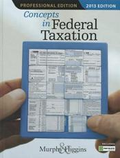 ISBN: 9781133189367 - Concepts In Federal Taxation 2013