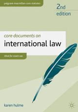 ISBN: 9781137022301 - Core Documents on International Law