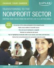 Ttransitioning to the Nonprofit Sector