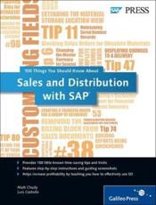ISBN: 9781592294053 - 100 Things You Should Know About Sales and Distribution in SAP
