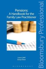 Pensions   A Handbook for the Family Law Practitioner