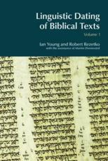 Linguistic Dating of Biblical Texts