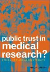 Public Trust in Medical Research?