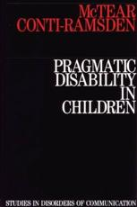 Pragmatic Disability in Children
