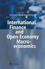 International Finance and Open economy Macroeconomics
