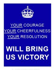 ISBN: 5055263700162 - Courage, Cheerfulness and Resolution print 11x14