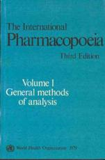 The International Pharmacopoeia (v. 1)