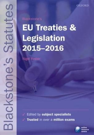 ISBN: 9780198735946 - Blackstone's EU Treaties & Legislation 2015-2016