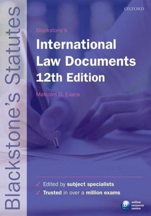 ISBN: 9780198736097 - Blackstone's International Law Documents