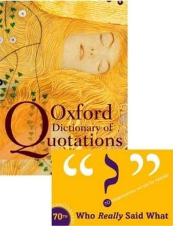 ISBN: 9780199237173 - Oxford Dictionary of Quotations