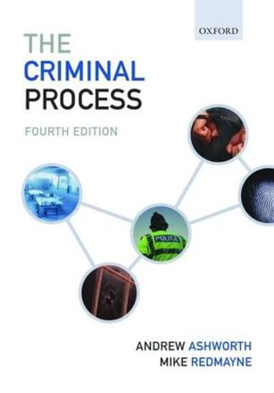ISBN: 9780199547289 - The Criminal Process