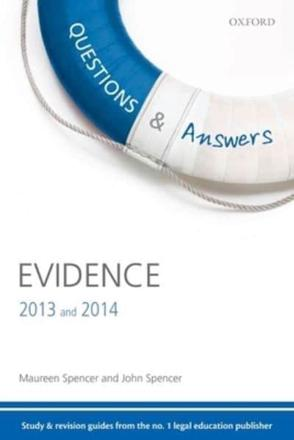 ISBN: 9780199661954 - Questions & Answers Evidence 2013-2014