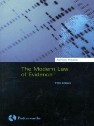 ISBN: 9780406921826 - The Modern Law of Evidence