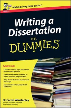 ISBN: 9780470742709 - Writing a Dissertation For Dummies