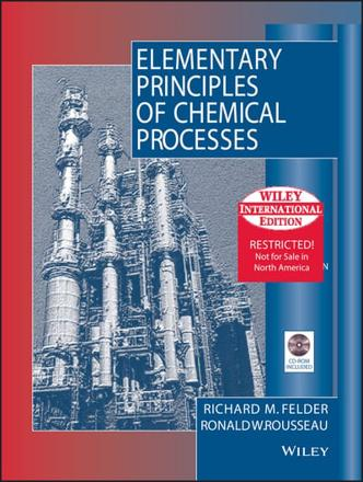 ISBN: 9780471375876 - Elementary Principles of Chemical Processes