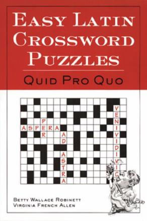 ISBN: 9780844284460 - Easy Latin Crossword Puzzles