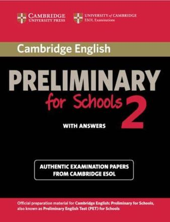 ISBN: 9781107603103 - Cambridge English Preliminary for Schools 2 Student's Book with Answers