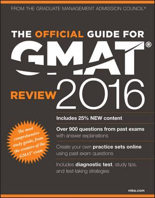 ISBN: 9781119042488 - The Official Guide for GMAT Review 2016 with Online Question Bank and Exclusive Video