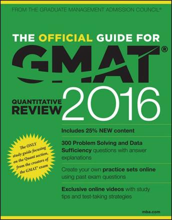 ISBN: 9781119042594 - The Official Guide for GMAT Quantitative Review 2016 with Online Question Bank and Exclusive Video