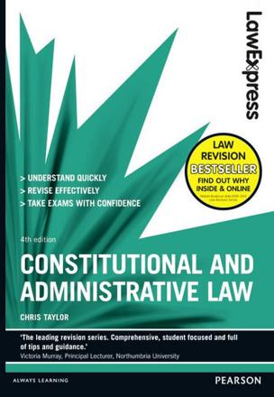 ISBN: 9781292012933 - Law Express: Constitutional and Administrative Law: Revision Guide