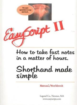 ISBN: 9781893726024 - Easyscript 2 - Intermediate (80 Wpm)