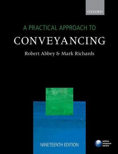 A-Practical-Approach-to-Conveyancing-by-Robert-M-Abbey-author-Mark-B-Richa