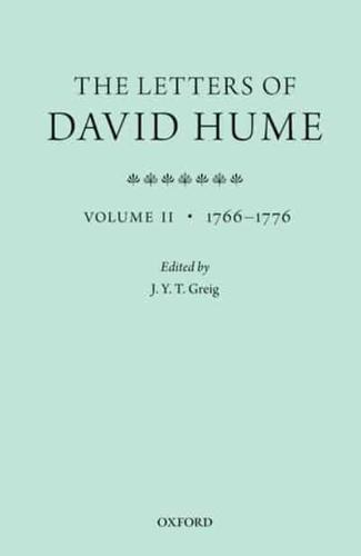 The Letters of David Hume. Volume 2 by J. Y. T Greig (editor)