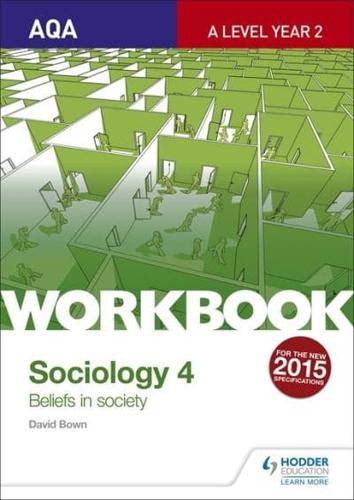 AQA-Sociology-for-A-Level-Workbook-4-Beliefs-in-Society-by-David-Bown-author