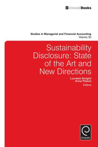 Sustainability Disclosure: State of the Art and New Directions by Emerald...