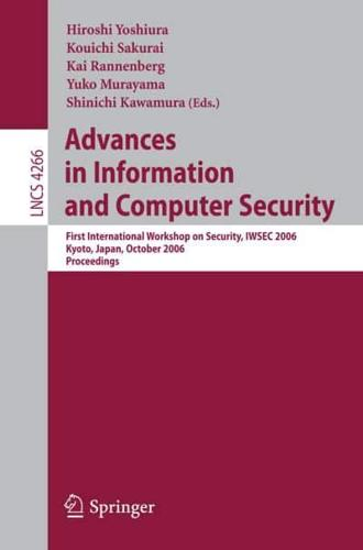 Advances in Information and Computer Security by Hiroshi Yoshiura (editor), K...