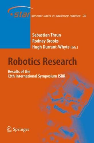 Robotics Research: Results of the 12th International Symposium ISRR by...