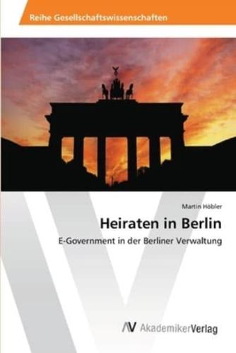 Heiraten in Berlin by Hobler Martin (Paperback / softback, 2012)