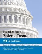 ISBN: 9780133450279 - Prentice Hall's Federal Taxation 2014 Individuals