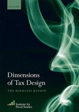 ISBN: 9780199553754 - Dimensions of Tax Design