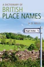 ISBN: 9780199609086 - A Dictionary of British Place-names