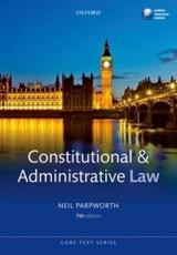 ISBN: 9780199698332 - Constitutional and Administrative Law