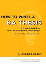 how to write a capstone thesis