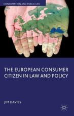 ISBN: 9780230300286 - The European Consumer Citizen in Law and Policy