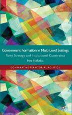 ISBN: 9780230300835 - Government Formation in Multi-Level Settings
