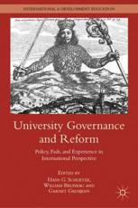 ISBN: 9780230340121 - University Governance and Reform