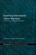 ISBN: 9780415433686 - Governing International Labour Migration
