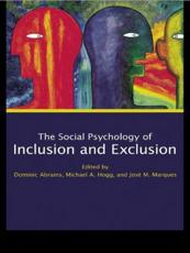 ISBN: 9780415651813 - Social Psychology of Inclusion and Exclusion