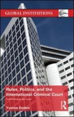 ISBN: 9780415658102 - Rules, Politics, and the International Criminal Court