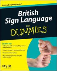 ISBN: 9780470694770 - British Sign Language For Dummies