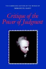 ISBN: 9780521348928 - Critique of the Power of Judgment