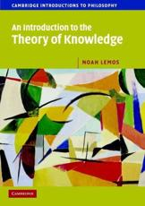 ISBN: 9780521603096 - An Introduction to the Theory of Knowledge
